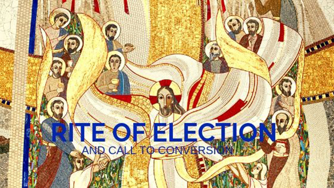 Diocesan Rite of Election Banner