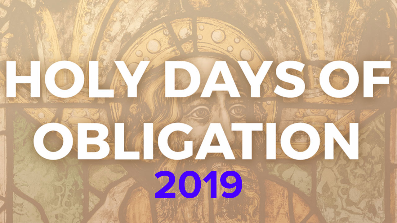 2019 Holy Days of Obligation Banner