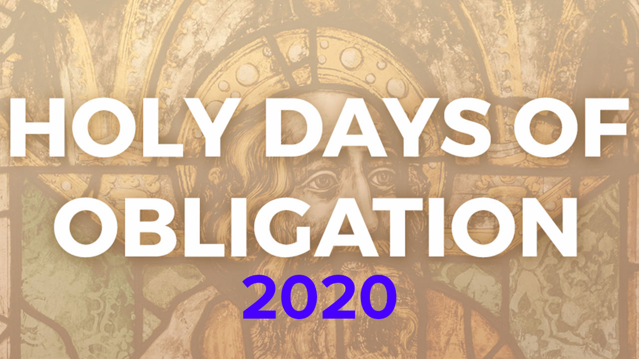2020 Holy Days of Obligation Banner
