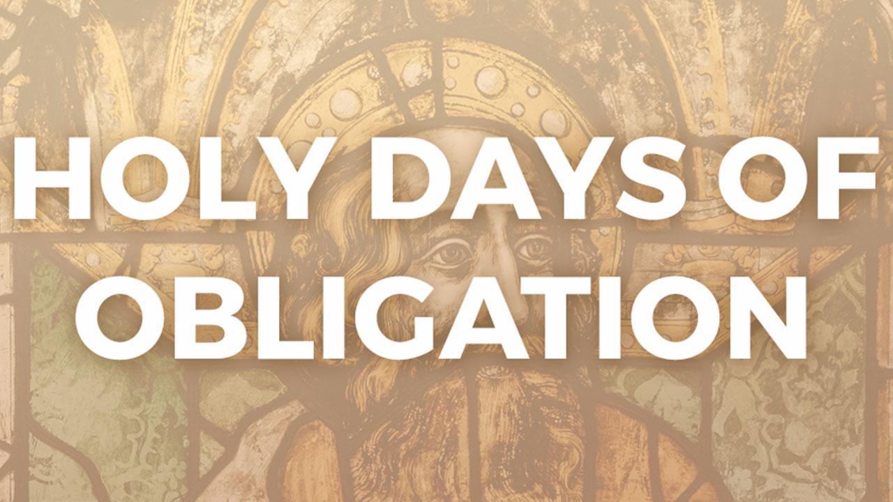 Holy Days of Obligation Banner