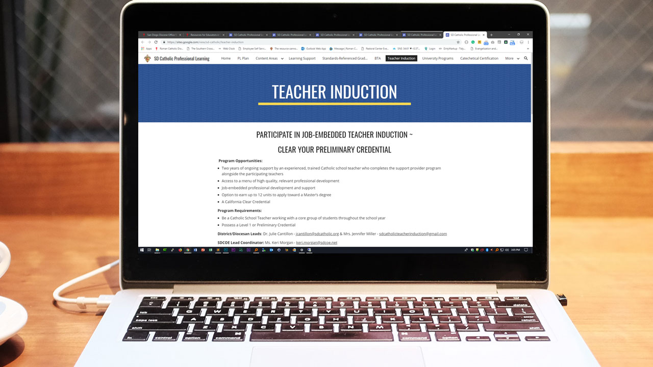 Teacher Induction Information Banner
